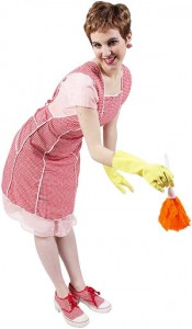 Woman Cleaning Up